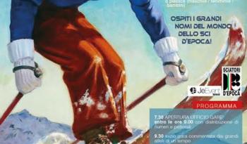 SCIATORI D'EPOCA, 1°trofeo Valerio Fincati di Slalom storico domenica 3 aprile 2016