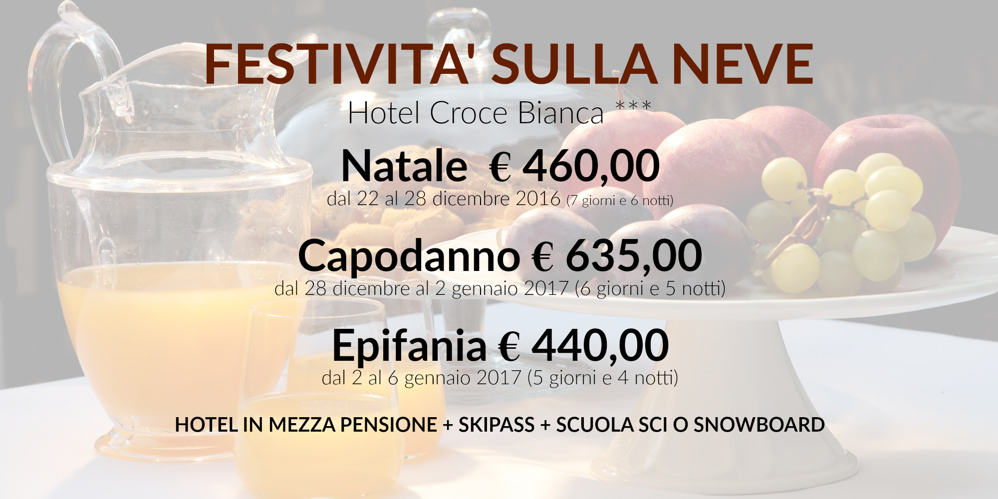 Offerta feste natale sulla neve ad asiago hotel in centro for Asiago offerte
