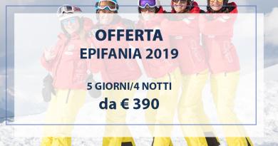 EPIFANIA 2019 sulla neve da € 390