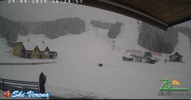 Oggi nevica ad Asiago-29 aprile 2019
