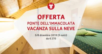 Settimana Bianca Ponte dell'Immacolata 2019 da € 270