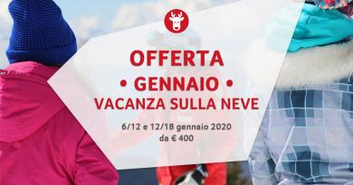 Settimana Bianca Gennaio 2020 da € 400